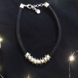 Thick silver statement neaklace!